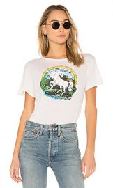RE DONE Originals Unicorn Dream Tee in Vintage White from Revolve com at Revolve