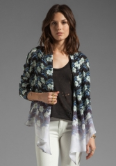 REBECCA MINKOFF Unlined Becky Jacket in Black Multi at Revolve