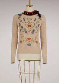 RED VALENTINO Wool floral Sweater at 24 Sevres
