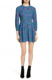 RED Valentino Anemone Floral Print Crepe Dress at Nordstrom