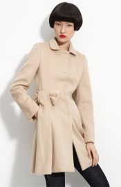 RED Valentino Bow Trim Coat at Nordstrom
