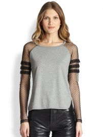 RED Valentino Jersey Contrast Baseball Tee at Saks Fifth Avenue