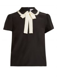 RED Valentino Pussy-bow silk-crepe blouse at Matches