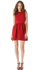 RED Valentino Scalloped Knit Sleeveless Dress at Shopbop