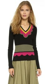 RED Valentino V Neck Pullover at Shopbop