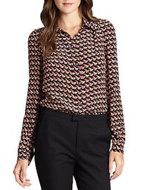 RED Valentino silk crepe de chine blouse at Saks Off 5th