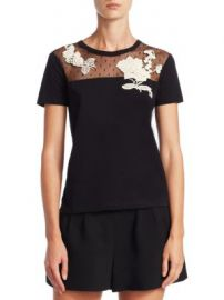 REDValentino - Floral Cotton Top at Saks Fifth Avenue
