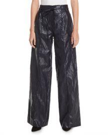 REJINA PYO Eve High-Rise Crinkle Wide-Leg Pants at Neiman Marcus