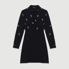 RIWEST Cotton shirt dress with embroidery at Maje