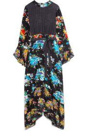 RIXO London   Chrissy patchwork printed silk crepe de chine midi dress at Net A Porter