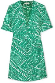 RIXO London   Laura printed crepe mini dress at Net A Porter