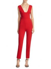 ROLAND MOURET - LOWLE PLUNGING JUMPSUIT at Saks Off 5th