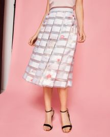 ROSALEY Chelsea Grey pleated skirt at Ted Baker