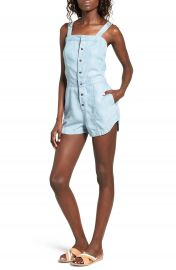 RVCA Accomplice Chambray Romper at Nordstrom