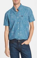 RVCA and39Thatand39ll Doand39 Slim Fit Short Sleeve Print Shirt at Nordstrom