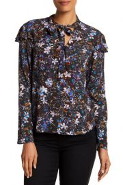Rachel Roy Tied Up Patterned Blouse at Nordstrom Rack