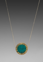 Rachel Bilsons turquoise necklace at Revolve