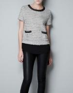 Rachel Bilsons tweed top at Zara