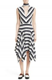 Rachel Comey Stripe Cutout Dress at Nordstrom