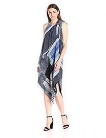 Rachel Rachel Roy Brushed Sq Printed Scarf Dress at Amazon