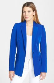 Rachel Roy Fitted One-Button Techno Blazer at Nordstrom