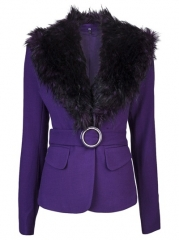 Rachel Zoe Fur Collar Jacket - at Farfetch