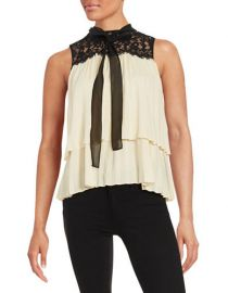 Rachel Zoe Tiered Sleeveless Blouse at Lord & Taylor