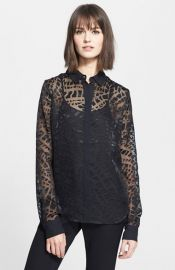 Rachel Zoe and39Quentinand39 Burnout Shirt at Nordstrom