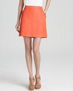 Rachel's red leather skirt on Glee at Bloomingdales