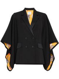 Racil Kyoto Contrast Lining Virgin Wool Kimono Jacket at Farfetch