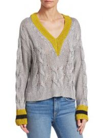 Rag   Bone - Emma Cropped Color Block Sweater at Saks Fifth Avenue