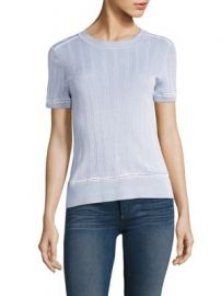 Rag   Bone - Kaitlin Rib-Knit Tee at Saks Fifth Avenue