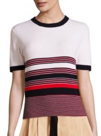 Rag   Bone - Krista Merino Wool Striped Top at Saks Off 5th