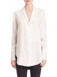 Rag   Bone - Leighton Silk Two-Tone Blouse at Saks Fifth Avenue