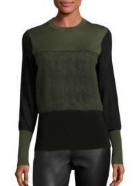 Rag   Bone - Marissa Merino Wool-Blend Sweatshirt at Saks Off 5th