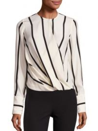 Rag   Bone - Max Striped Silk Blouse at Saks Fifth Avenue
