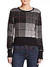 Rag   Bone - Tegan Plaid Merino Wool Sweater at Saks Off 5th