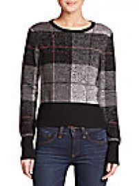Rag   Bone - Tegan Plaid Merino Wool Sweater at Saks Off 5th