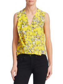 Rag   Bone - Victor Silk Floral Print Top at Saks Fifth Avenue