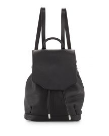 Rag   Bone Pilot Leather Flap-Top Backpack  Black at Neiman Marcus