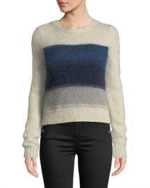 Rag  amp  Bone Holland Cropped Crewneck Sweater at Neiman Marcus