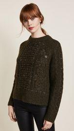 Rag  amp  Bone Jemima Crew Neck Embroidered Sweater at Shopbop
