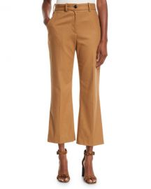 Rag  amp  Bone Libby Cropped Flare-Leg Pants at Neiman Marcus