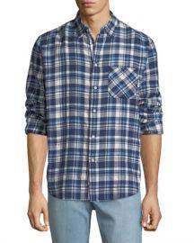 Rag  amp  Bone Men  x27 s Fit 3 Plaid Beach Shirt at Neiman Marcus