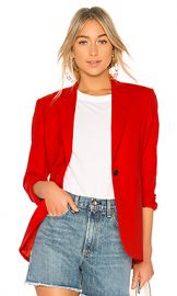 Rag  amp  Bone Ridley Notched Lapel Blazer in Red from Revolve com at Revolve