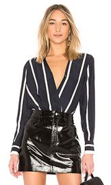 Rag  amp  Bone Victor Blouse in Salute  amp  White from Revolve com at Revolve