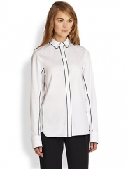 Rag and Bone - Berry Piped Cotton Shirt at Saks Fifth Avenue