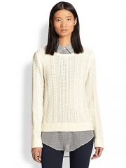 Rag and Bone - Peyone Cable-Knit Sweater at Saks Fifth Avenue