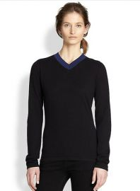 Rag and Bone - Renelle Wool and Cashmere Colorblock Sweater in Black at Saks Fifth Avenue