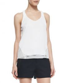 Rag and Bone Chieftain Crepe Racerback Tank at Neiman Marcus